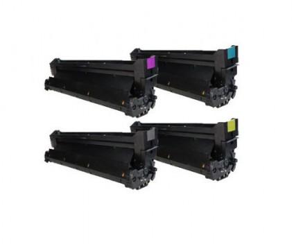 4 Tambores Compatíveis, OKI 4291810X Preto + Cor ~ 30.000 Paginas