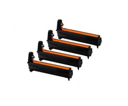 4 Tambors Compativeis, OKI 4338170X / 4387000X / 4338172X / 4387002X / 4431510X / 4650730X Preto + Cor ~ 20.000 Paginas