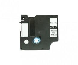 Fita Compativel DYMO 40910 Preto 9mm x 7m