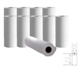 10 Rolos de Papel Térmico 110x50x11mm