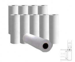 10 Rolos de Papel Térmico 110x40x11mm