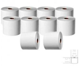 10 Rolos de Papel Térmico 57x70x11mm