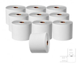 10 Rolos de Papel Térmico 60x80x17mm