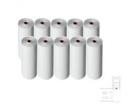10 Rolos de Papel Térmico 80x40x11mm