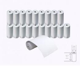 20 Rolos de Papel Térmico 57x25x8mm