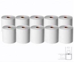 10 Rolos de Papel Térmico 57x60x11mm