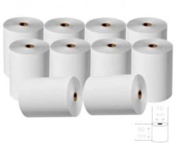 10 Rolos de Papel Térmico 80x70x11mm