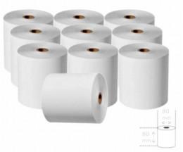 10 Rolos de Papel Térmico 80x80x11mm