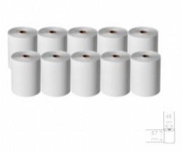 10 Rolos de Papel Térmico 57x45x11mm