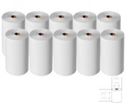 10 Rolos de Papel Térmico 80x60x11mm