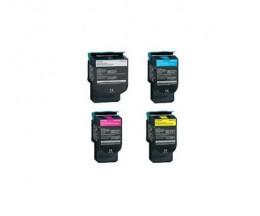 4 Toners Compativeis, Lexmark C544X Preto + Cor ~ 6.000 / 4.000 Paginas