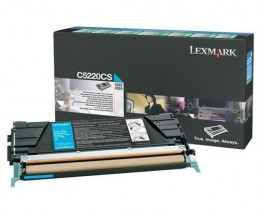 Toner Original Lexmark C5220CS Cyan ~ 3.000 Paginas