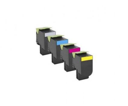 4 Toners Compativeis, Lexmark 702H Preto + Cor ~ 4.000 / 3.000 Paginas