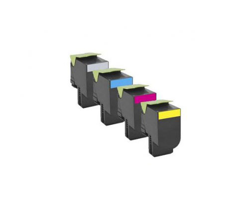4 Toners Compativeis, Lexmark 802H Preto + Cor ~ 4.000 / 3.000 Paginas