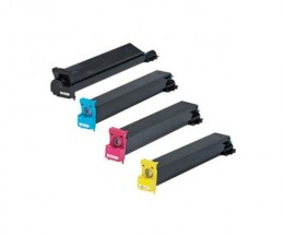 4 Toners Compativeis, Konica Minolta 893870X Preto + Cor ~ 20.000 / 12.000 Paginas