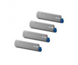 4 Toners Compativeis, OKI 4405923X Preto + Cor ~ 9.000 Paginas