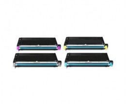 4 Toners Compativeis, Lexmark X560H Preto + Cor ~ 10.000 Paginas