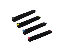 4 Toners Compativeis, Sharp MX27 Preto + Cor ~ 18.000 / 15.000 Paginas