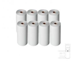 8 Rolos de Papel Térmico 80x45x12mm