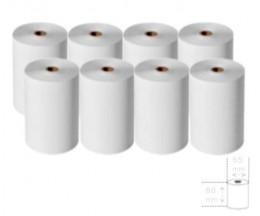 8 Rolos de Papel Térmico 80x65x12mm