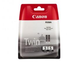 2 Tinteiros Originais, Canon PGI-5BK Preto 26ml