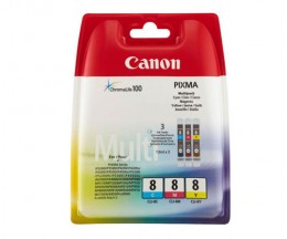 3 Tinteiros Originais, Canon CLI-8 Cor 13ml