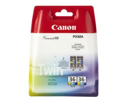 2 Tinteiros Originais, Canon CLI-36 Cor 12ml
