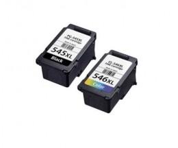 2 Tinteiros Compativeis, Canon PG-545 XL / CL-546 XL Preto 16ml + Cor 14.5ml