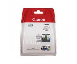 2 Tinteiros Originais, Canon PG-560 / CL-561 Preto 7.5ml + Cor 8.3ml