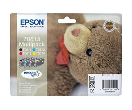 4 Tinteiros Originais, Epson T0615 / T0611-T0614 8ml