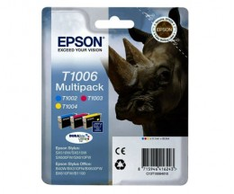 3 Tinteiros Originais, Epson T1006 / T1002-T1004 Cor 11.1ml