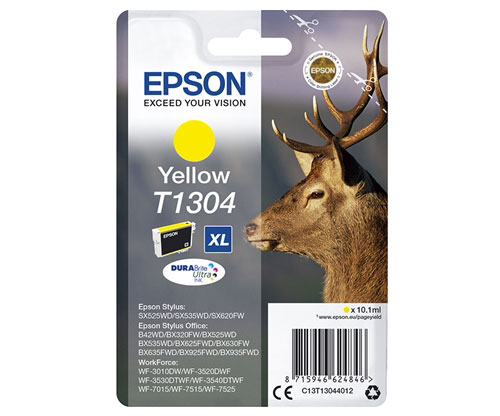 Tinteiro Original Epson T1304 Amarelo 10.1ml ~ 755 Paginas