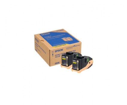 2 Toners Originais, Epson S050606 Amarelo ~ 7.500 Paginas