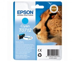 Tinteiro Original Epson T0712 Cyan 5.5ml