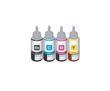 4 Tinteiros Compativeis, Epson T6641-T6644 Preto + Cor 70ml