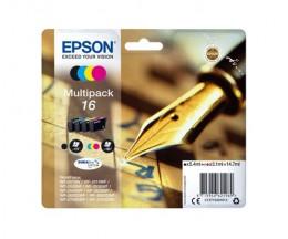 4 Tinteiros Originais, Epson T1626 / 16 Preto 5.4ml + Cor 3.1ml
