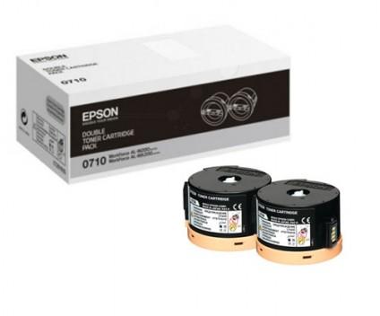 2 Toners Originais, Epson S050710 Preto ~ 2.500 Paginas