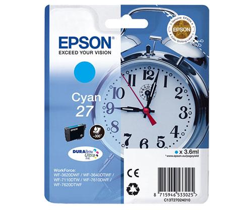 Tinteiro Original Epson T2702 / 27 Cyan 3.6ml