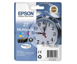 3 Tinteiros Originais, Epson T2705 / 27 Cor 3.6ml