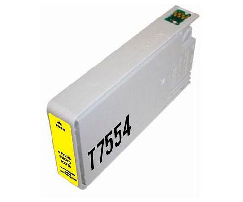 Tinteiro Compativel Epson T7564 / T7554 Amarelo 39ml ~ 4.000 Paginas