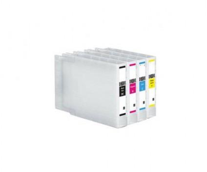 4 Tinteiros Compatíveis, Epson T9081-T9084 Preto 100ml + Cor 39ml ~ 5.000 / 4.000 Paginas