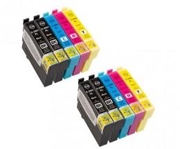 10 Tinteiros Compativeis, Epson T2991-T2994 / 29 XL Preto 17ml + Cor 13ml