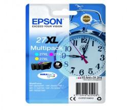 3 Tinteiros Originais, Epson T2715 / 27 XL Cor 10.4ml