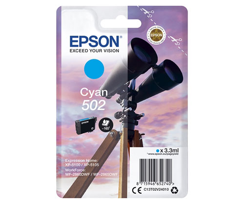 Tinteiro Original Epson T02V2 / 502 Cyan 3.3ml