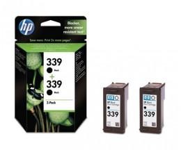 2 Tinteiros Originais, HP 339 Preto 21ml