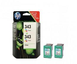 2 Tinteiros Originais, HP 343 Cor 7ml