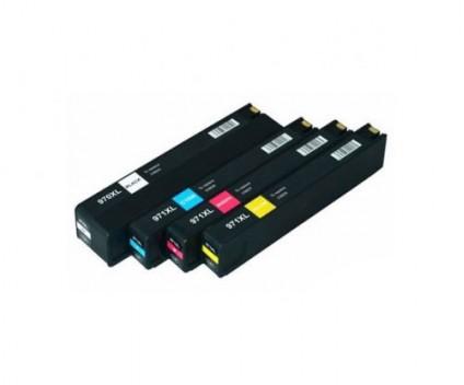 4 Tinteiros Compativeis, HP 970 XL Preto 240ml + HP 971 XL Cor 110ml
