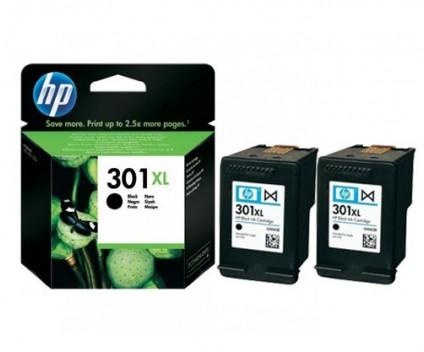 2 Tinteiros Originais, HP 301 XL Preto 8ml