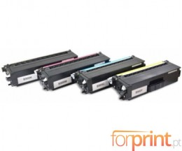 4 Toners Compativeis, Brother TN-900 Preto + Cor ~ 6.000 Paginas