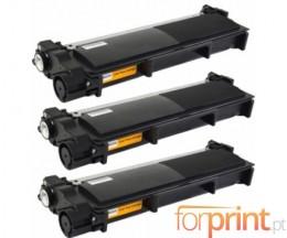 3 Toners Compativeis, Brother TN-2320 Preto ~ 2.600 Paginas